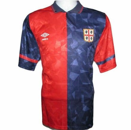 1990-1993 Cagliari Home Football Shirt, Umbro, Large (Excellent Condition)